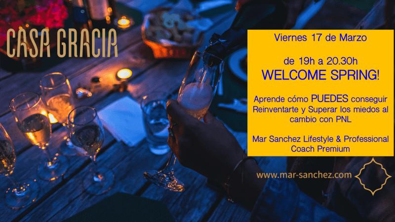 Próximo evento 17 de Marzo: Welcome Spring en Hotel Casa Gracia!